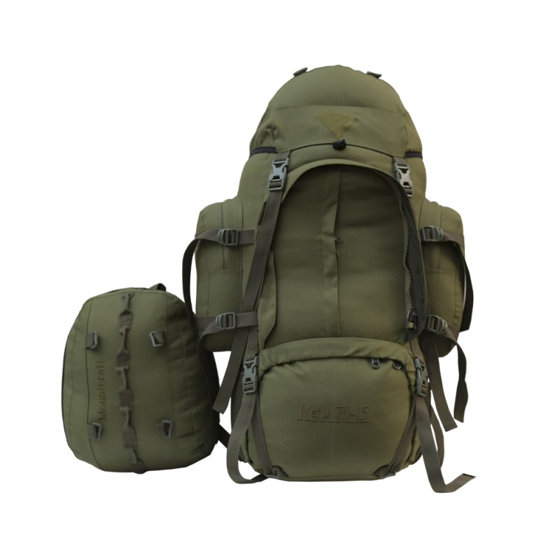 Mountcraft RL-16 Meru 70 +15 Backpack Olive Green