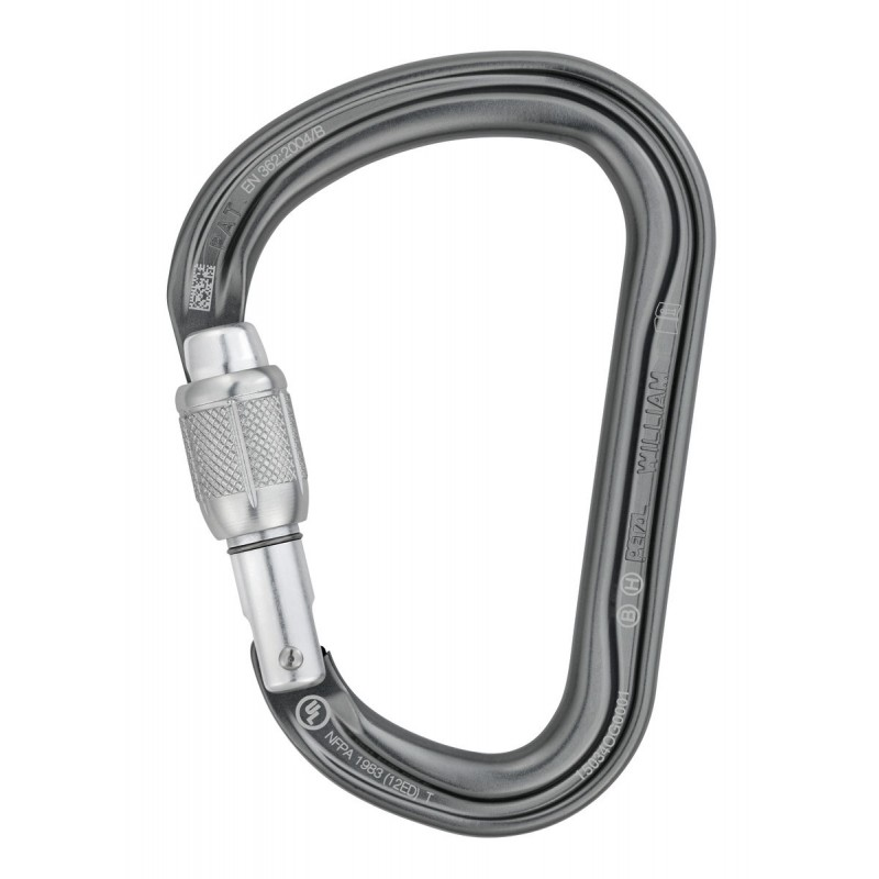 Petzl  William Large, pear-shaped locking carabine...