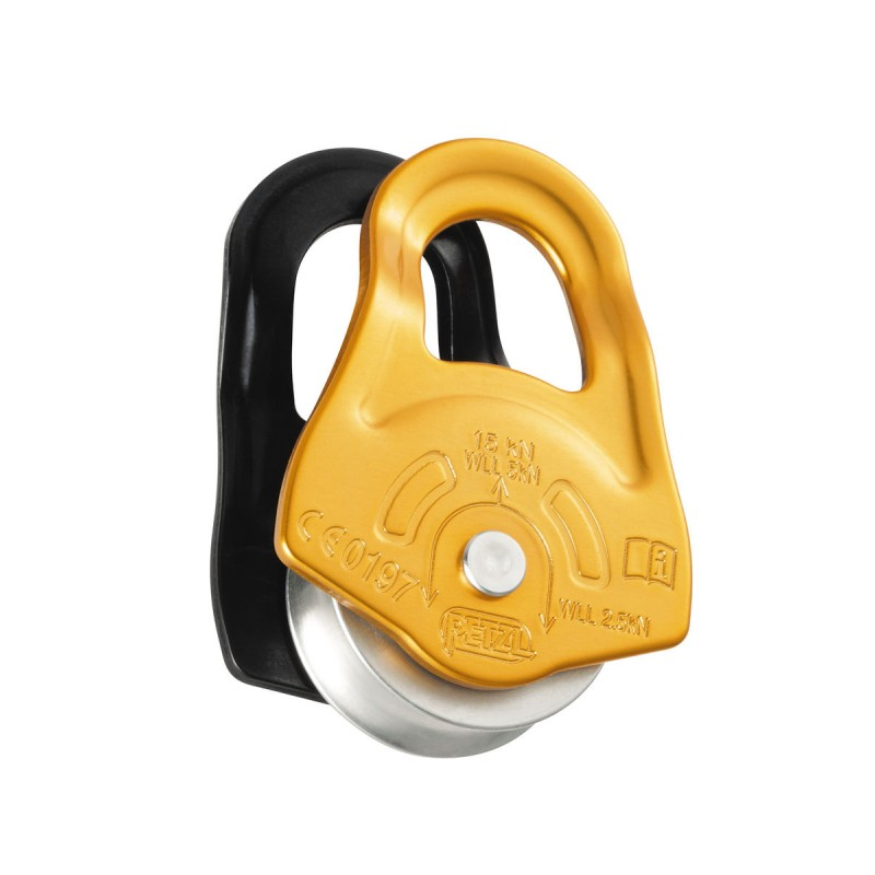 Petzl Partner Compact pulley with swinging side pl...